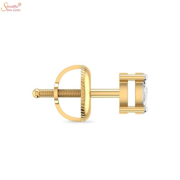 gold plating moissanite diamond earring tops