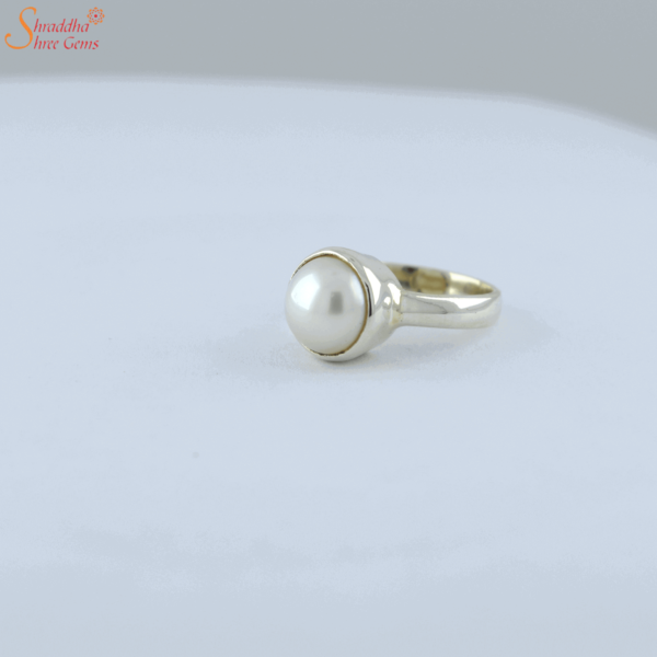 natural and certified pearl ring in sterling silver