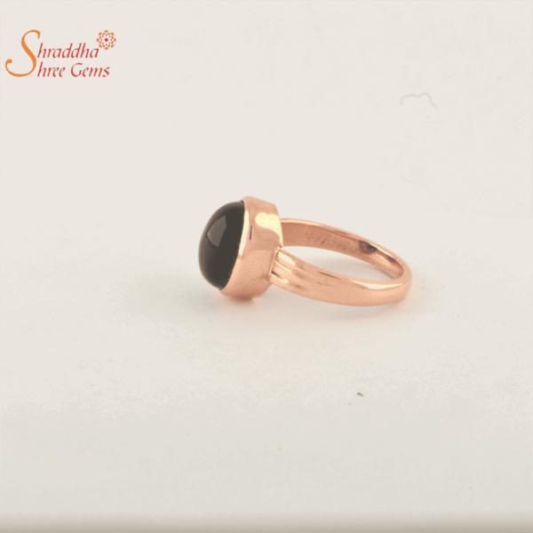black onyx ring in panchdhatu