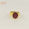 laboratory certified ruby ring in panchdhatu