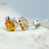 Citrine Earring Tops In Sterling Silver