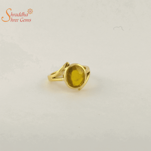 Pukhraj Ring In Panchdhatu | Yellow Sapphire Ring In Panchdhatu