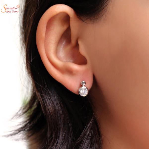 new fashionable moissanite diamond earring tops