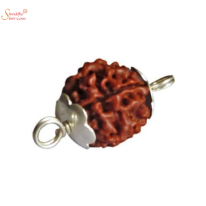 Natural And Certified 3 Mukhi/Face Rudraksha Pendants In Sterling Silver