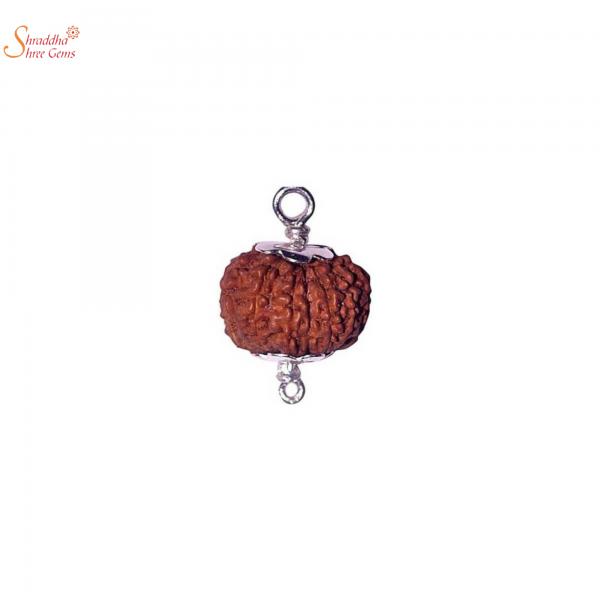 9 mukhi/face rudraksha pendant in sterling silver
