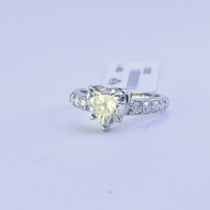 Beautiful Heart design Moissanite Diamond Engagement Ring, 925 Sterling Silver Wedding Ring