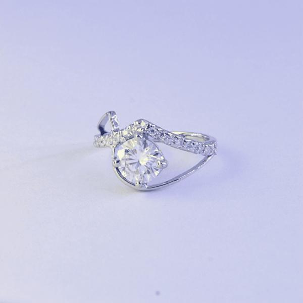 Brilliant Cut Moissanite Annivarsary Ring