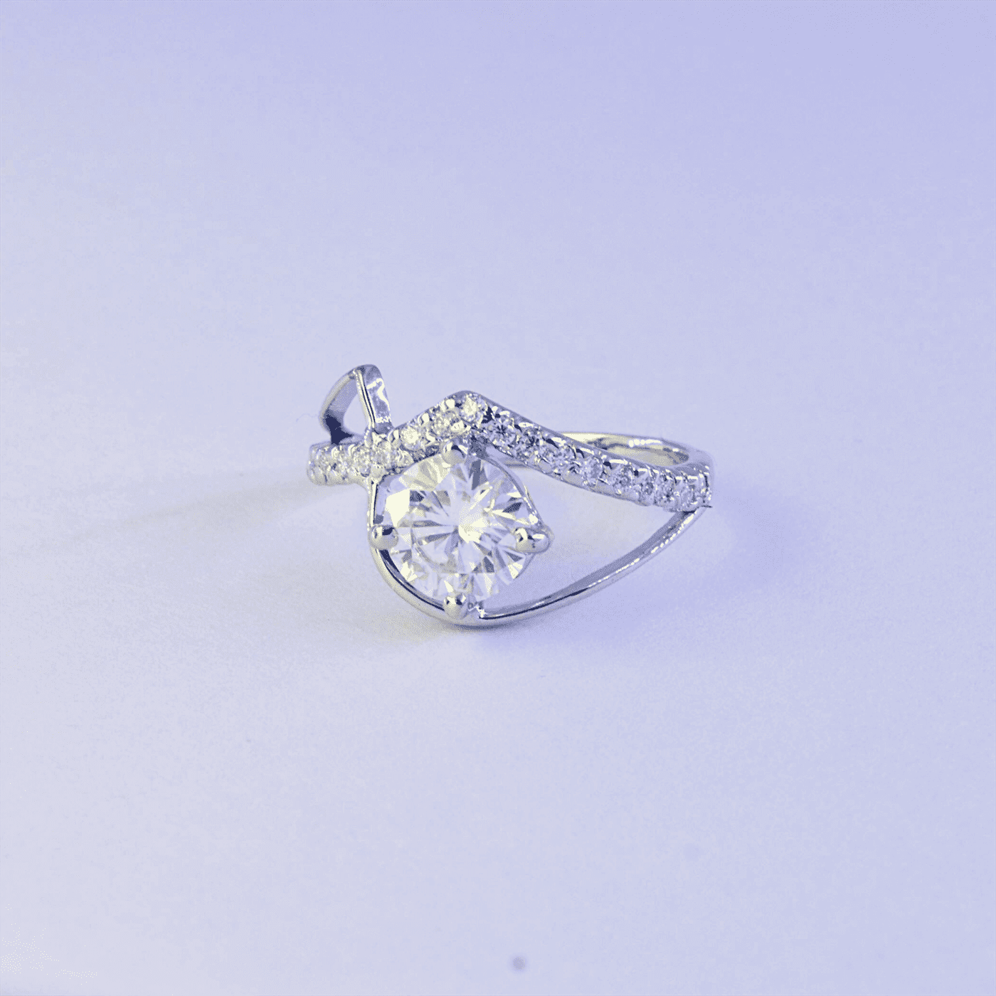 Brilliant Cut Moissanite Annivarsary Ring