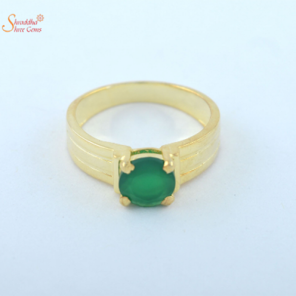 natural emerald ring for men and women