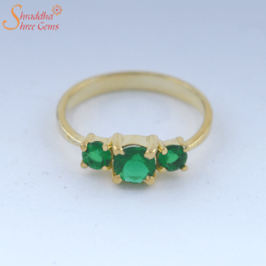 4.25 Ratti / 3.83 Carat Natural And Certified Emerald Gemstone Ring | Panna Gemstone Ring