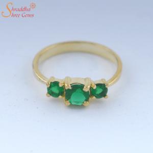 4.25 Ratti / 3.83 Carat Natural And Certified Emerald Gemstone Ring | Panna Gemstone Ring