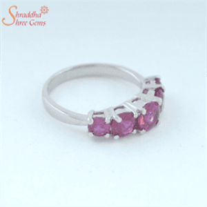 5.25 Ratti / 4.73 Carat Ruby Gemstone Ring | Manik Gemstone Ring