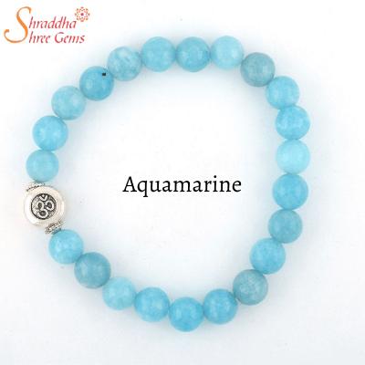 auqamarine gemstone bracelet