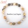 bamboo leaf agate gemstone bracelet