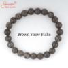 brown snow flake gemstone bracelet