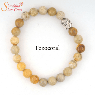Fozocoral gemstone bracelet