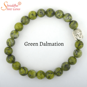 Green Dalmation Gemstone Bracelet