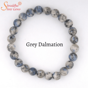 Grey Dalmation Gemstone Bracelet