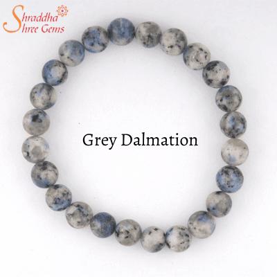 grey dalmation gemstone bracelet