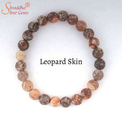natural leopard skin gemstone bracelet