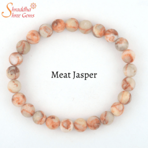 Natural Meat Jasper Gemstone Bracelet
