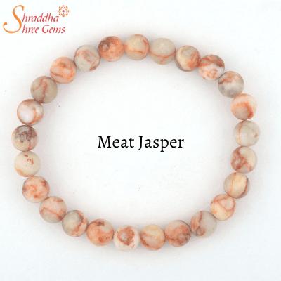 natural meat jasper gemstone bracelet