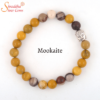Natural mukaite gemstone bracelet