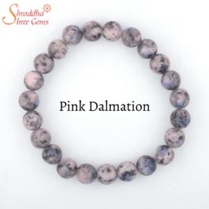 Natural Pink Dalmation Gemstone Bracelet