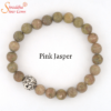 natural pink jasper gemstone bracelet