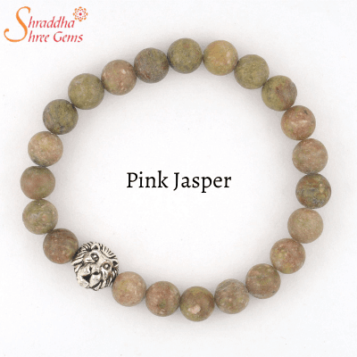 natural pink jasper gemstone bracelet
