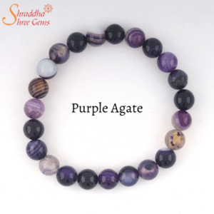 Natural Purple Agate Gemstone Bracelet