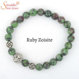 Natural Ruby Zoisite Gemstone Bracelet