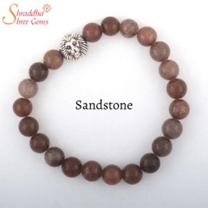 Natural Sandstone Gemstone Bracelet
