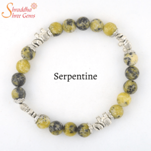Natural Serpentine Gemstone Bracelet