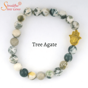 Natural Tree Agate Gemstone Bracelet