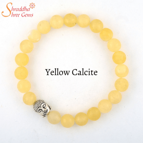 natural yellow calcite gemstone bracelet