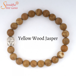 Natural Yellow Wood Jasper Gemstone Bracelet