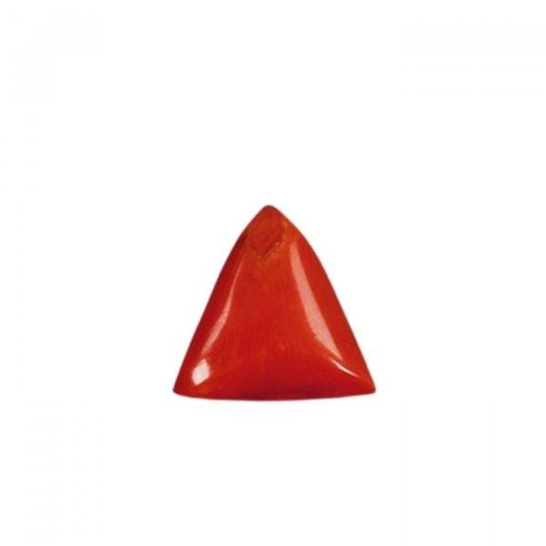 10.18 Ratti / 9.18 Carat Natural Loose Tringle Coral Gemstone