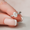 Moissanite Diamond Engagement Ring In Silver And Gold
