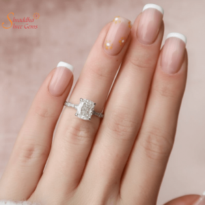 Solitaire Moissanite Diamond Ring In Gold And Silver