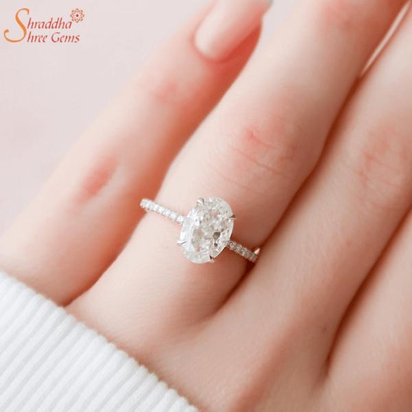 Moissanite Diamond Gold Engagement Ring