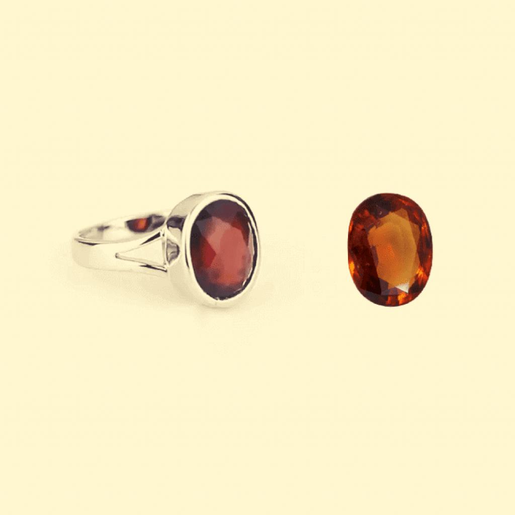Hessonite garnet rings , gomed rings