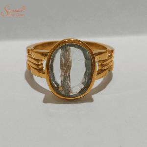 Natural Fluorite Gemstone Ring