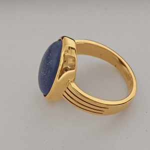Lapis Lazuli Ring In Sterling Silver And Gold