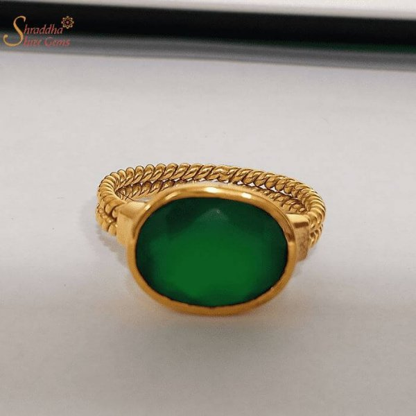Certified Green Onyx Ring