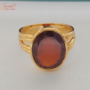 Hessonite Garnet Ring, Gomed Ring