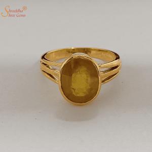 Yellow Sapphire Ring, Pukhraj Ring