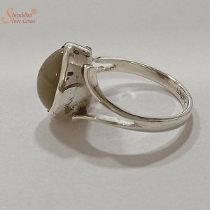 Certified Cat's Eye Ring, Lehsunia Ring