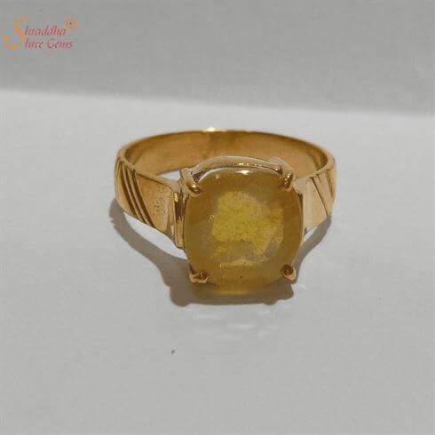 Certified Yellow Sapphire Ring