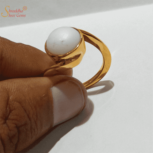 Natural Pearl Ring For Men And Women